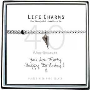 Life Charms You Are 40 Silver Plated Bracelet